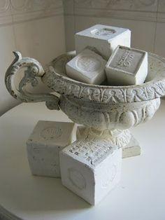 ♅ Dove Gray Home Decor ♅   gray french soaps