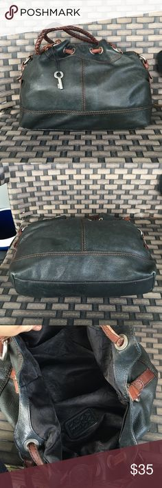 """Two tone fossil hobo bag Good used condition16""""X11"""" Fossil Bags Hobos"""