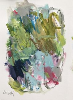 Someone Told Me Once To Plant A Garden 2 Mixed media on paper By Theresa Benavidez