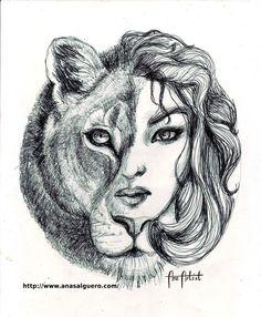 Ana Artist: SEKHMET/BASTET, Mi leona para la primera exposició...