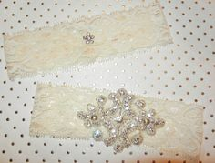 Bridal Garter Set with Rhinestone Accents by DESIGNERSHINDIGS, $28.00