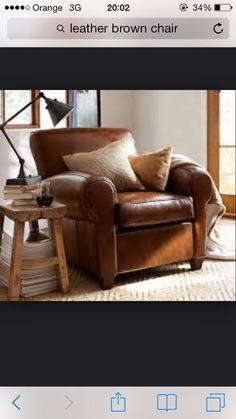 brown leather chair for the living room