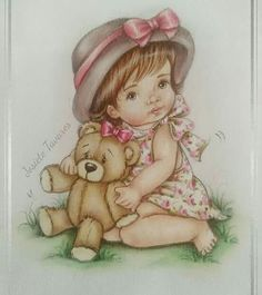 - Salvabrani Crayon Painting, Fabric Painting, Love Coloring Pages, Cute Cat Wallpaper, Baby Illustration, Cute Paintings, Cute Teddy Bears, Digi Stamps, Baby Disney