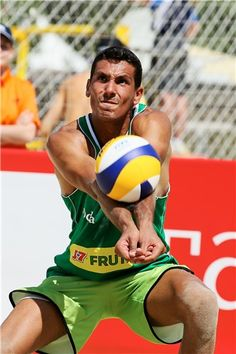 Valerio Del Carpio of Italy receives a ball