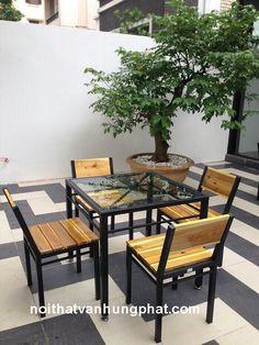 Idee per mobili repurposed – Recycled Furnitures Ideas Cafe Furniture, Iron Furniture, Steel Furniture, Pallet Furniture, Outdoor Furniture Sets, Furniture Design, Cozy Coffee Shop, Coffee Shop Design, Wood Steel