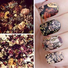 Nail art plates: Flower Power #04 & Flower Power #12.