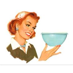The Tupperware Lady.I used to e a Tupperware lady! It was FUN! Love Tupperware and enjoyed selling it, too. Vintage Images, Vintage Art, Vintage Ladies, Vintage Paintings, Retro Images, Vintage Food, Vintage Posters, Vintage Housewife, Vintage Tupperware