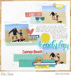 Sunny Days Inspiration by Jen Schow for Elle's Studio - scrapbook layout