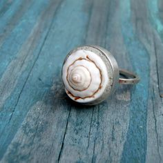Island Dreams Sterling and Seashell Ring by melissamanley on Etsy