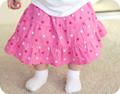 L-O-V-E tee, and easy tiered skirt-tutorial – Craftiness Is Not Optional
