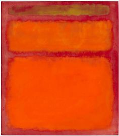 Mark Rothko - Orange, Red, Yellow, 1961 (auction record with 86.882.500$ at Christie's)