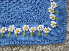 Little Daisy Baby Blanket by Julie Lapalme: $2.50 Pattern