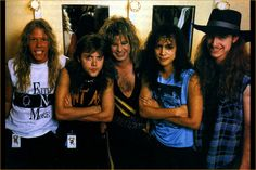 "rare slayer band pictures | Metallica Photosfrom 1986 -1987 ""Master Of Puppets"""