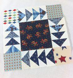 Cowboy Wild Goose Chase Quilt Block by Blue Bird Sews, via Flickr