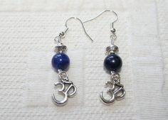 Oorbellen met lapis lazuli mooie spacers en een door EASTERNSOULS