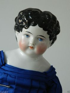 """20 """" Black haired China Shoulder head Doll in nice silk costume Antique China, Vintage China, China Dolls, Old Dolls, Doll Houses, Teddy Bears, Stuffed Animals, Boudoir, Baby Dolls"""