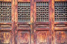 traditional wooden door with lattice window ...  accessibility, asia, background, beautiful, brown, china, chinese, closed, closeup, culture, decor, decoration, detail, door, entrance, ethnicity, feature, floral, garden, gate, lattice, latticework, lock, material, old, paint, pattern, retro, style, texture, traditional, travel, vintage, window, wood, wooden