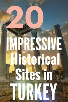 20 Impressive Historical Sites in Turkey. Travel to Turkey and live in wonder and awe as you discover a place rich with history that joins to continents. Follow @turkeyhome to discover the beauty of this country.