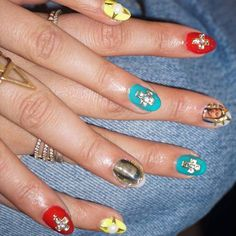 Jackie Cruz's Virgin Mary manicure at New York Fashion Week!
