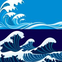 高波,海 ベクターイラスト素材