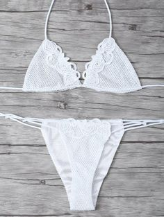 SHARE & Get it FREE | Lace Halter Crochet Bikini Set - WhiteFor Fashion Lovers only:80,000+ Items • New Arrivals Daily Join Zaful: Get YOUR $50 NOW!
