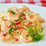 Spicy Creamy Garlic Shrimp Pasta