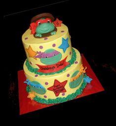 Ethan's Ninja Turtles cake by atasteofwhimsy, via Flickr Ninja Turtle Birthday, Ninja Turtle Party, Ninja Turtles, Ninja Cake, Tmnt Cake, Birthday Cakes, Birthday Ideas, 4th Birthday, Birthday Parties