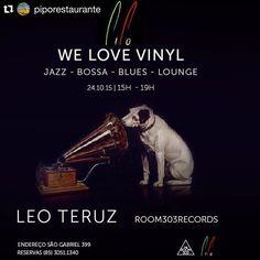 #Repost @piporestaurante  Sábado a tarde é coisa fina !!! Animação com classe !!! @leoteruz tocando Vinil !!! Reservas 30511340 #welovevinyl  #turntablism #lounge #blues #jazz #bossa by leoteruz http://ift.tt/1HNGVsC