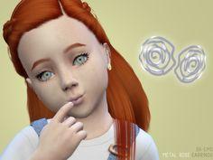 Metal Rose Earrings for Child and Toddler | BlueRose-Sims