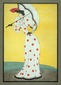 Woman dressed in the Style of c.1890 Mac Harshberger, A History of Costumes, 1928-32. Watercolor. USA. Via FAMSF