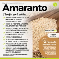 Scarica: Le proprietà dell'Amaranto Detox Recipes, Healthy Recipes, Detox Diet Drinks, In Natura, Healthy Seeds, Keto Nutrition, Paleo Life, Nutrition Information, Health And Wellbeing