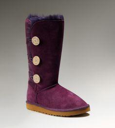 Women #UGG Bailey Button Triplet Boots Purple  $79.90