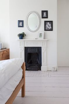 classic white bedroom. For white cotton bedding and solid wood bedroom furniture check out: http://www.naturalbedcompany.co.uk/