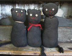 pattern to make primitive  sock cat   ... , distressed, aged, primitive decor, sock cats, early style sock cat