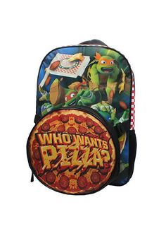 Nickelodeon TMNT Pizza Backpack and Lunch Bag Set -- Learn more by visiting  the image 81b80d219b18a