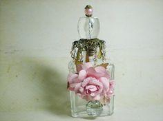 Sweet Pink Roses Perfume Bottle