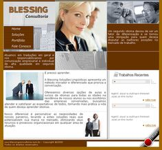 Site em HTML, CSS e Flash da Blessing Consultoria - 2008