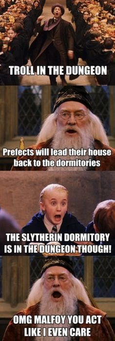 I never thought of it like that. Poor slytherins. Harry Potter.