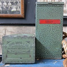 Antique 19th Century Apothecary Tins -