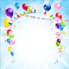 Bright birthday background design vector 03 Birthday Background Design, Christmas Background Vector, Background Design Vector, Balloon Background, Art Background, Free Vector Backgrounds, Vector Free, Corel X7, 3d Shapes