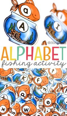 Learning games that focus on the alphabet are wonderful to be used all year around in the classroom. This wonderful alphabet fishing activity is a great game to help your little learners with the alphabet. - Education and lifestyle Literacy Games, Kindergarten Games, Letter Activities, Learning Activities, Preschool Activities, Kids Learning, Fun Games, Teaching Resources, Learning Spanish