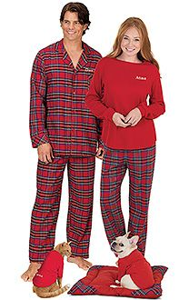 couples matching christmas pajamas - 243×486