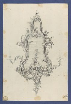 Thomas Chippendale | Sconce, in Chippendale Drawings, Vol. I | The Metropolitan Museum of Art