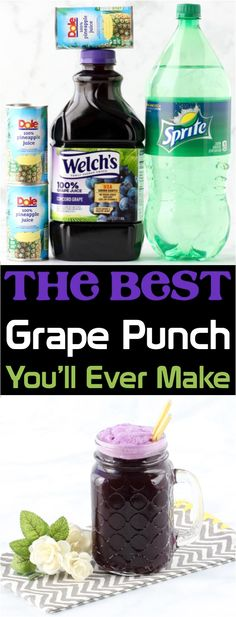 Sparkling Grape Punch Recipe Ingredients} – Never Ending Journeys Sparkling Grape Punch Recipe Ingredients} – Never Ending Journeys,Beverages Grape Punch Recipes! This EASY purple punch is so yummy, and perfect for any. Kid Drinks, Fruit Drinks, Smoothie Drinks, Party Drinks, Summer Drinks, Frozen Drinks, Beverages, Protein Smoothies, Fruit Smoothies