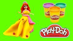 """Disney Princess Dresses part 3 - Ariel's dress """"The Little Mermaid"""" #creativefun #creativekids #forkids #disneyproncess #playdoh #littlemermaid https://www.facebook.com/littlefive.org"""