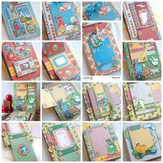 All the amazing pages of the Mother Goose mini album by Nadya! #graphic45