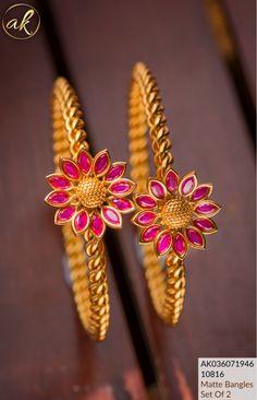 Please WhatsApp 8148871715 for queries and orders.  #arshis #arshiscollection #accessories #korean #koreanjewellry #traditionaljewellery #rosegoldjewellery #accessoriesofinstragram #newarrival #weararshis #ethnicjewelry #jhumka #SouthIndianjewelry #wedmegood #emeraldstone #SouthIndianbridalfashion #brideofindia #haram #neckpiece #bridetobe #BridalJewellery #thanjavur #tamilbride #rubystone #abranam #brideessential #southbride #onegramjewellery Gold Bangles Design, Gold Jewellery Design, Gold Jewelry, Bridal Bangles, Bridal Jewelry, Ethnic Jewelry, Indian Jewelry, Indian Bridal Fashion, Emerald Stone