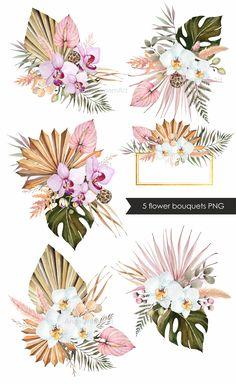 Tropical Wedding Bouquets, Tropical Wedding Decor, Tropical Flowers, Floral Wedding, Wedding Flowers, Wedding Backdrop Design, Wedding Decorations, Flower Bouquet Png, Wedding Color Schemes