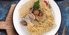 Spaghetti vongole e ceci - http://www.piccolericette.net/piccolericette/spaghetti-vongole-e-ceci/