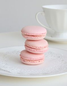 Beautiful Pink Macarons
